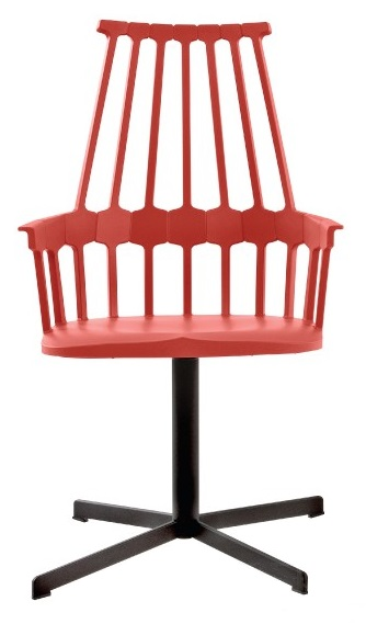 Kartell Comback Chair stoel met draaipoot