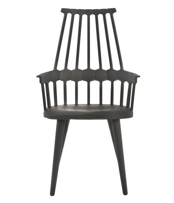 Kartell Comback Chair stoel met vier houten poten
