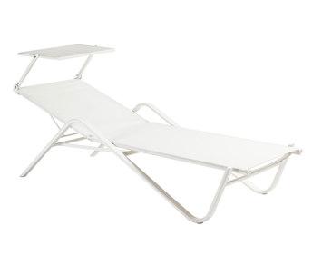 EMU Holly 195 stapelbare ligstoel met zonnescherm
