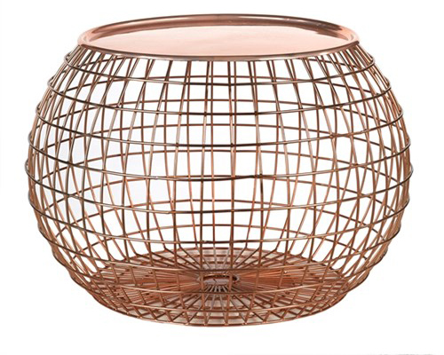Pols Potten Ball Wire Copper Tray bijzettafel