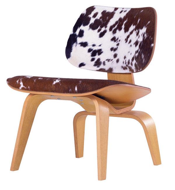 Vitra Plywood LCW Calf's Skin stoel
