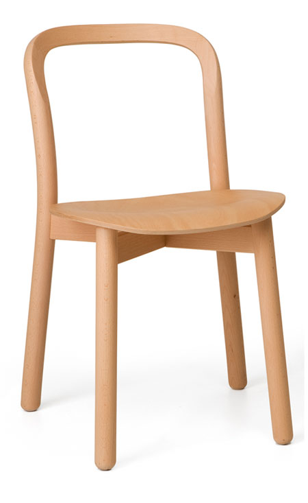 DUM Beech Chair Open stoel