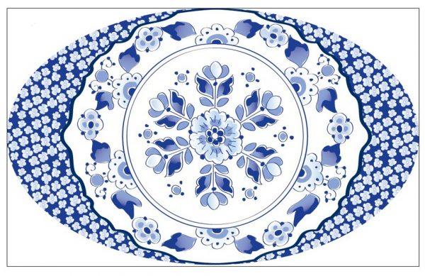 Donkersloot Delfts Blauw vloerkleed