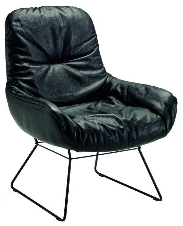 Freifrau Leya Lounge Wireframe fauteuil