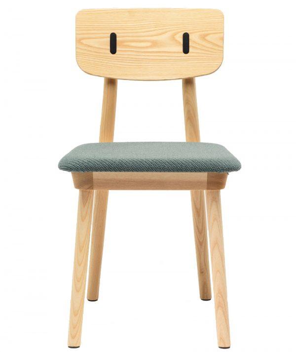 De Vorm Clip stoel gestoffeerde zitting