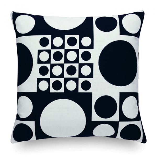 Vitra Geometri black/white kussen
