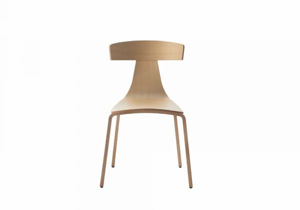 Plank Remo houten stoel